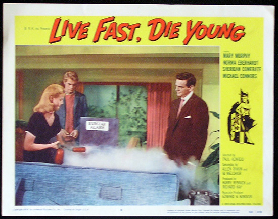 LIVE FAST DIE YOUNG 1958 Bad Girl Mike Connors Lobby card 8