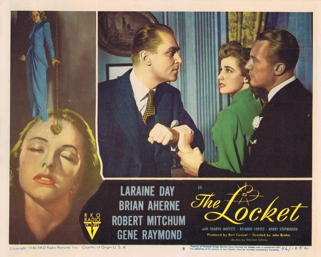 THE LOCKET Lobby Card 8 Laraine Day Brian Aherne Robert Mitchum
