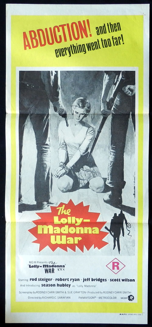 THE LOLLY MADONNA WAR Daybill Movie poster Rod Steiger Robert Ryan Jeff Bridges