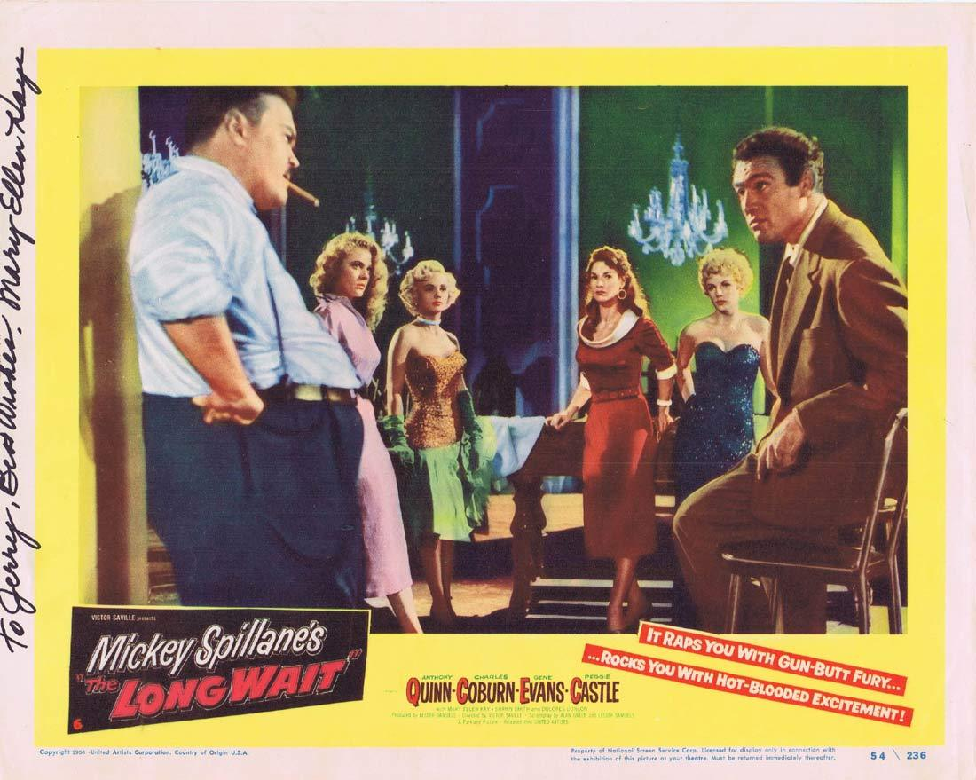 THE LONG WAIT Original Lobby Card Autographed by Mary Ellen Kay