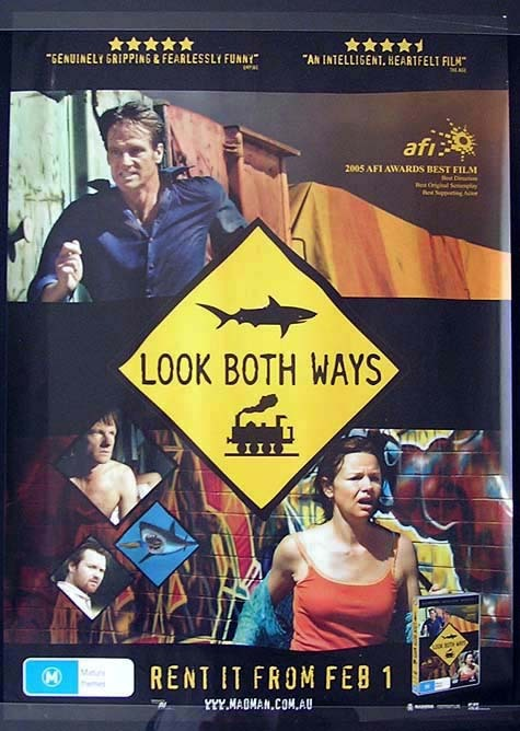 LOOK BOTH WAYS William McInnes Movie Poster Australian One sheet
