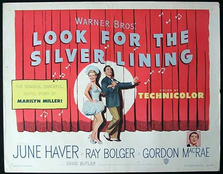 LOOK FOR THE SILVER LINING '49-Bolger US HALF SHEET poster