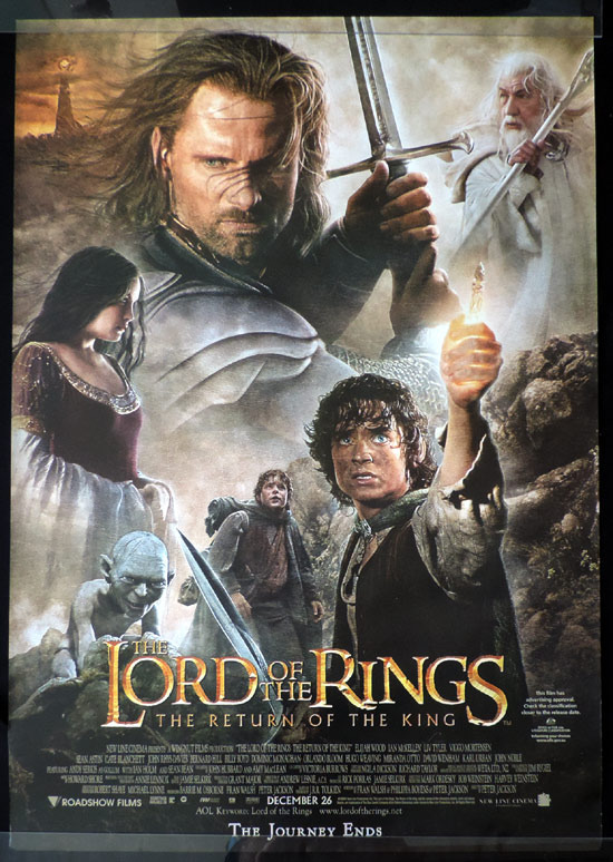 LORD OF THE RINGS RETURN OF THE KING Vintage Australian ONE SHEET Movie Poster
