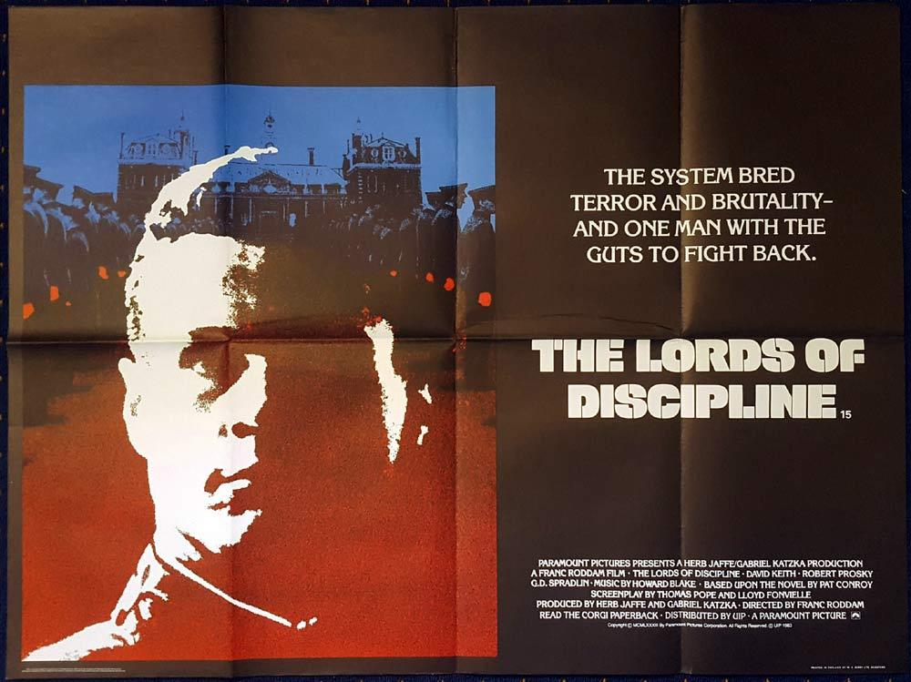 THE LORDS OF DISCIPLINE Original British Quad poster Robert Prosky