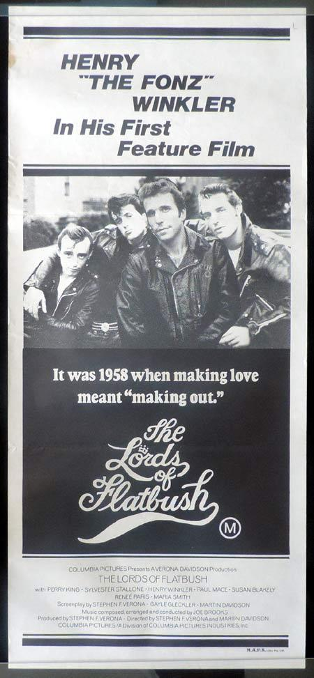 THE LORDS OF FLATBUSH Daybill Movie Poster Sylvester Stallone