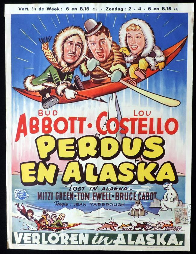 LOST IN ALASKA Original Belgian Movie poster Abbott and Costello