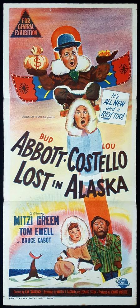 LOST IN ALASKA Original Daybill Movie poster Abbott and Costello