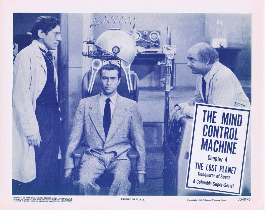 THE LOST PLANET Lobby card 2 MIND CONTROL MACHINE Serial