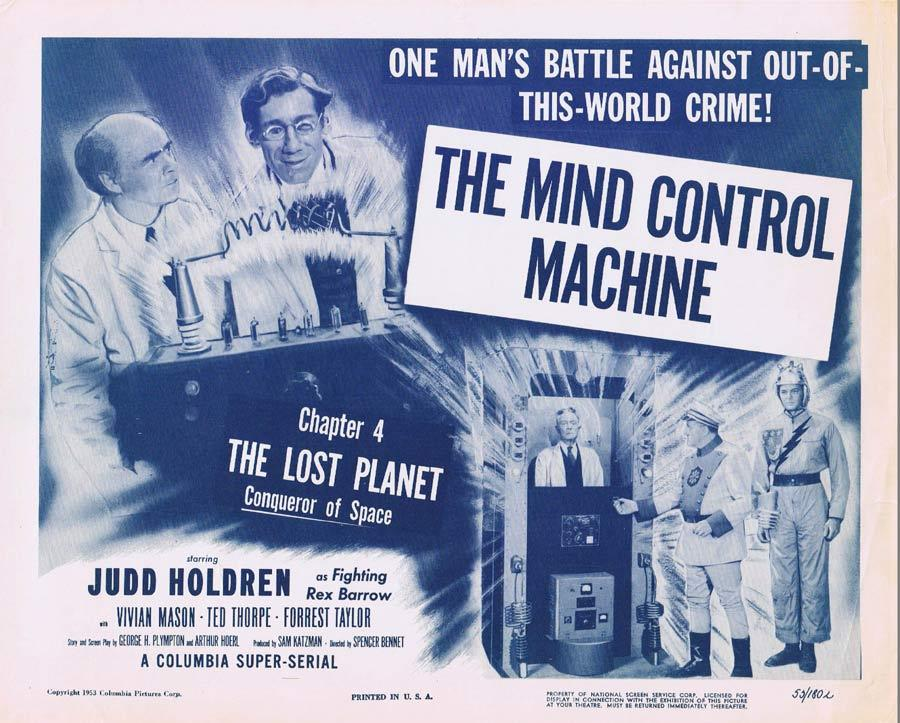 THE LOST PLANET Title Lobby card MIND CONTROL MACHINE Serial