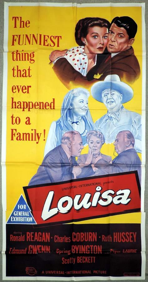LOUISA Original 3 Sheet Movie Poster Ronald Reagan