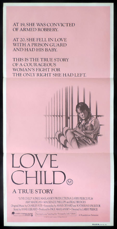 LOVE CHILD Original Daybill Movie poster Beau Bridges