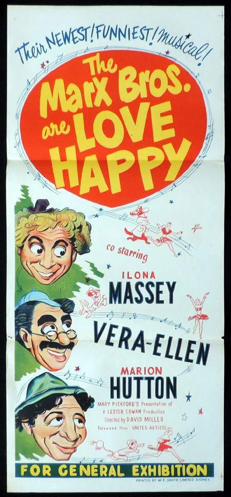 LOVE HAPPY Original Daybill Movie Poster The Marx Borthers