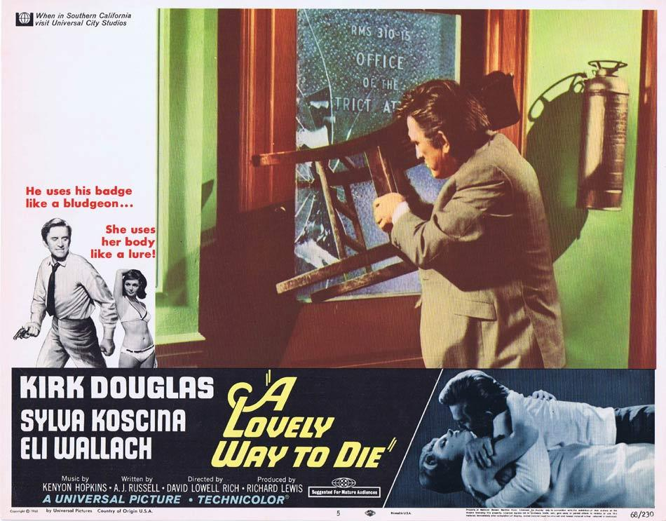 A LOVELY WAY TO DIE Lobby Card 5 Kirk Douglas Sylva Koscina Eli Wallach