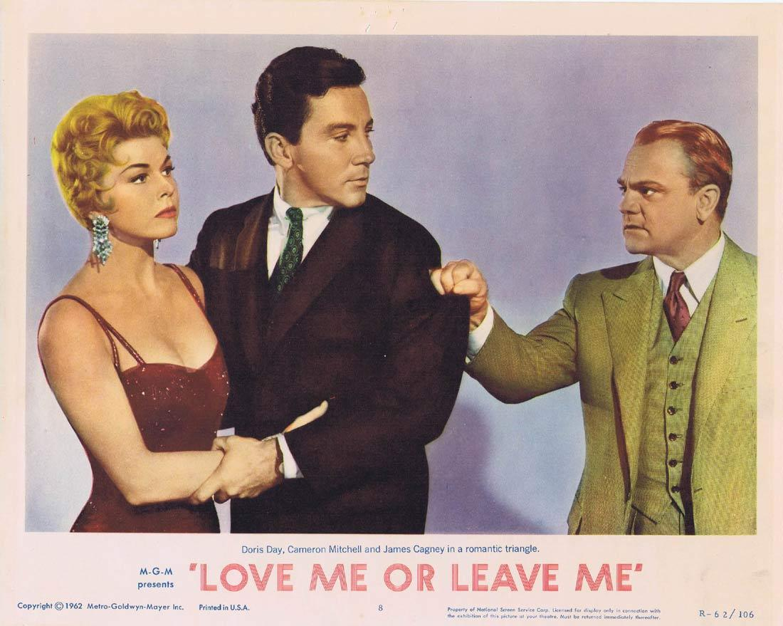 LOVE ME OR LEAVE ME Original Lobby Card 8 Doris Day James Cagney Cameron Mitchell 1962r