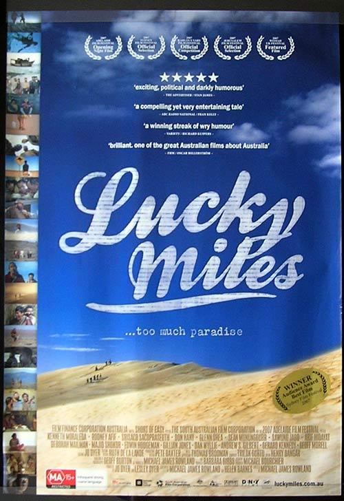 LUCKY MILES Movie poster 2007 Steve Bastoni Australian Cinema One sheet