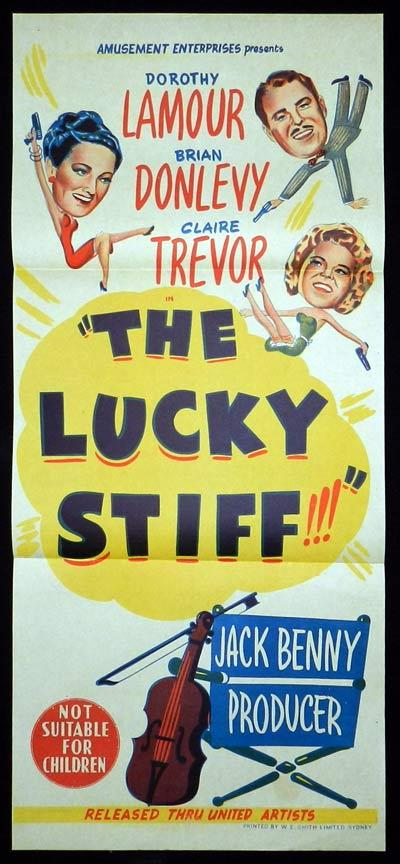 THE LUCKY STIFF Original Daybill Movie Poster Jack Benny Dorothy Lamour