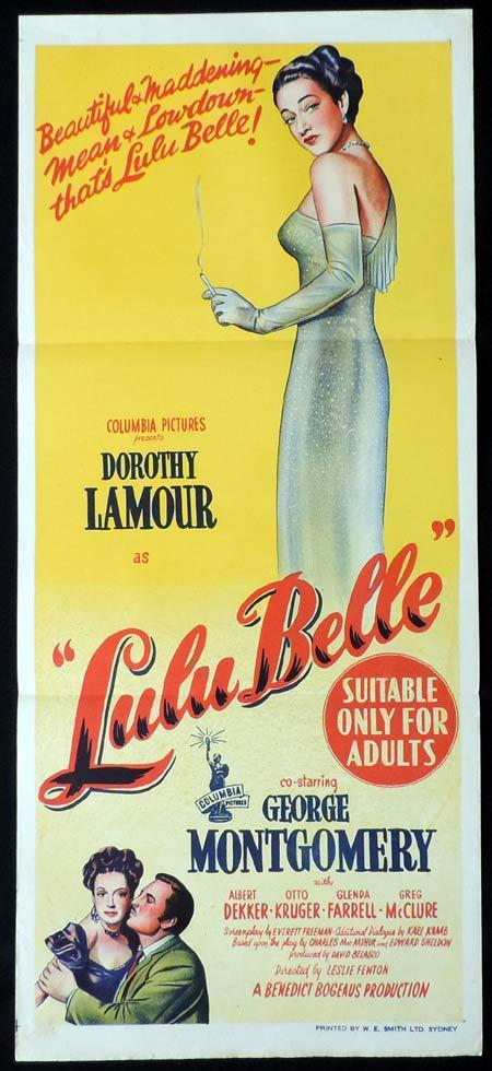 LULU BELLE Original Daybill Movie Poster Dorothy Lamour