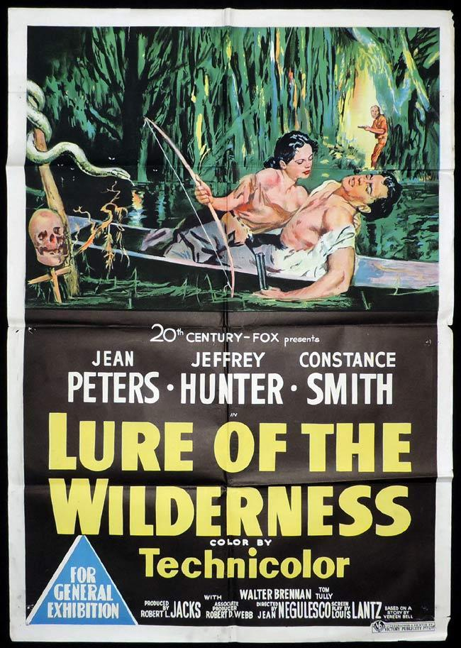 LURE OF THE WILDERNESS Original One sheet Movie Poster Jean Peters Jeffrey Hunter Constance Smith