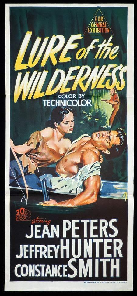 LURE OF THE WILDERNESS Original Daybill Movie Poster Jean Peters