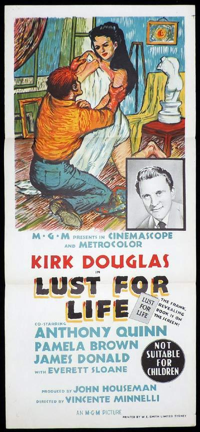 LUST FOR LIFE Original Daybill Movie Poster Kirk Douglas as Van Gogh Anthony Quinn