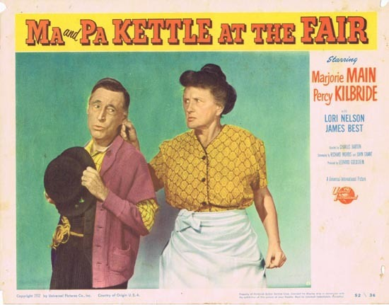 MA AND PA KETTLE AT THE FAIR Lobby Card 8 Marjorie Main Percy Kilbride - Ma and Pa Kettle at the Fair (1952) 