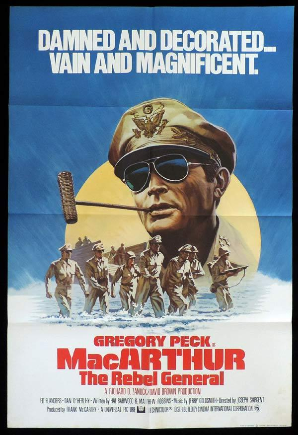 MACARTHUR THE REBEL GENERAL One Sheet Movie Poster Gregory Peck