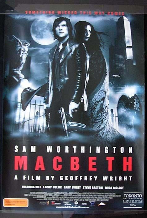 MACBETH Sam Worthington Movie Poster Australian One sheet