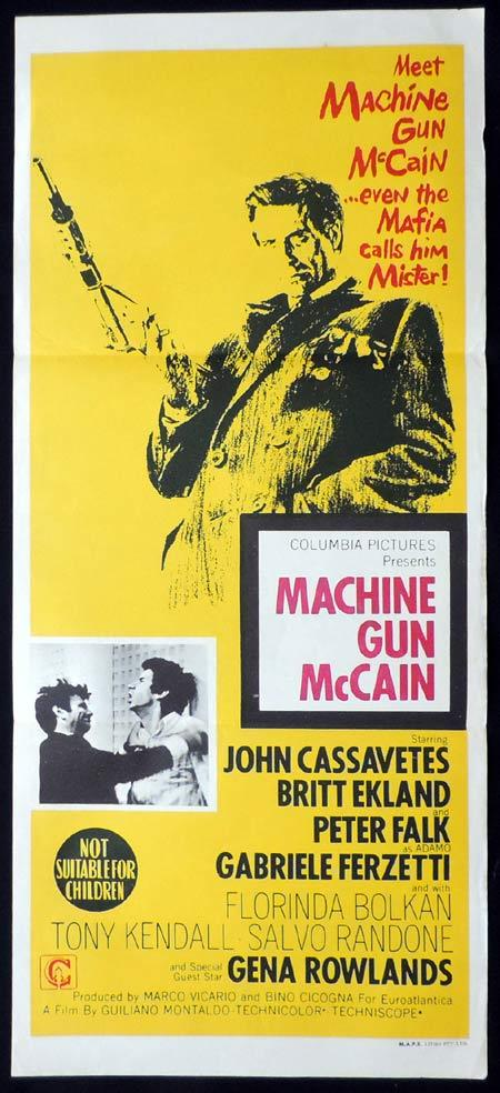 MACHINE GUN MCCAIN Original Daybill Movie Poster Charles Bronson