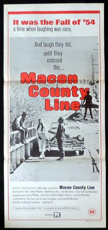 MACON COUNTY LINE Daybill Movie poster
