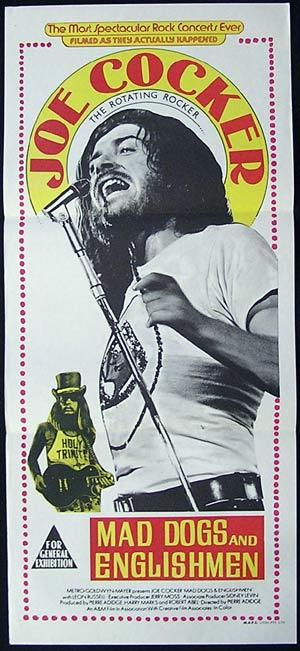 JOE COCKER Mad Dogs and Englishmen '71 daybill Movie poster