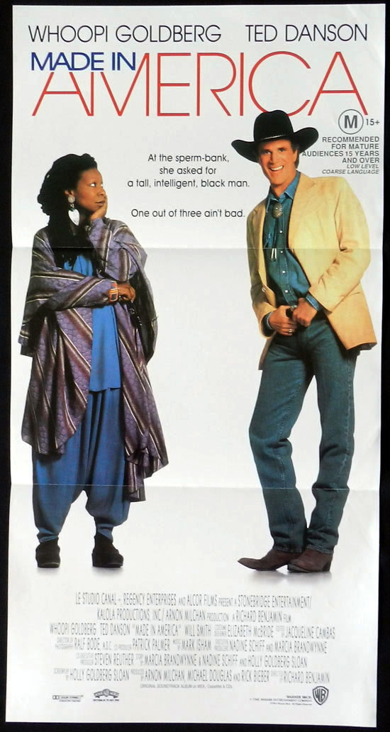 MADE IN AMERICA Australian Daybill Movie poster Ted Danson Whoopi Goldberg