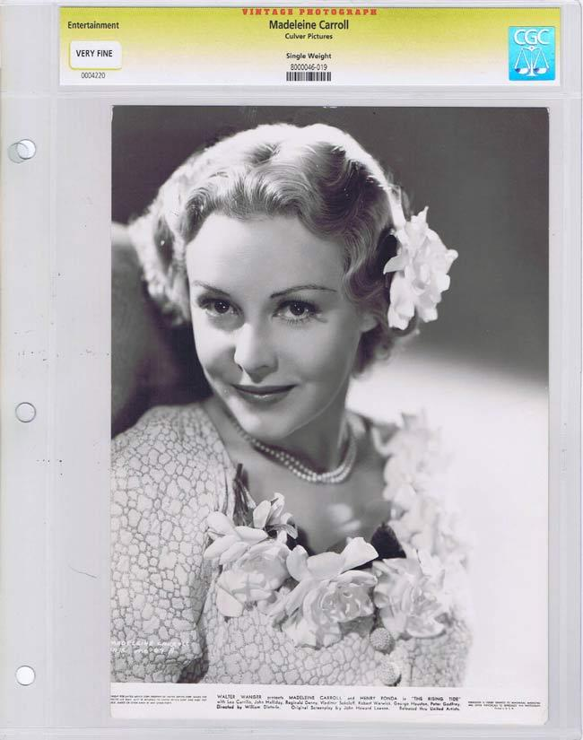THE RISING TIDE Vintage CGC graded Movie Still Madeleine Carroll