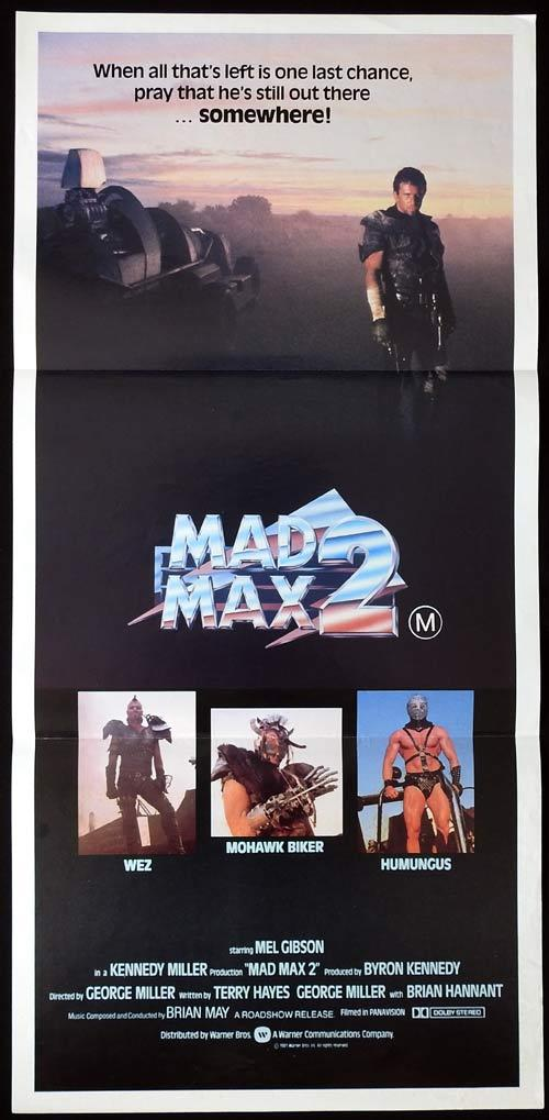 MAD MAX 2 Road Warrior Daybill Movie Poster Mel Gibson