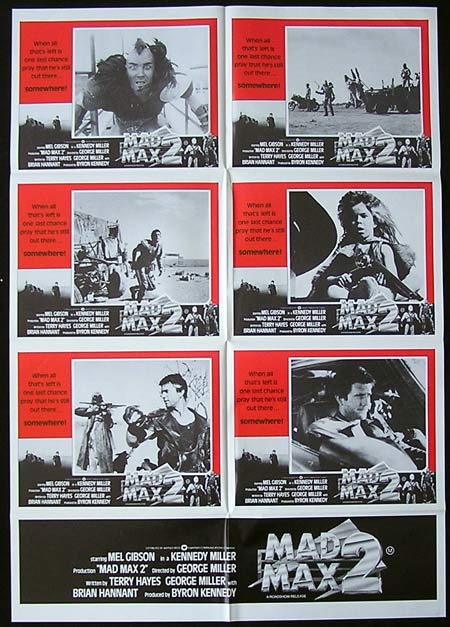 MAD MAX 2 Photo sheet Movie poster 1981 Mel Gibson