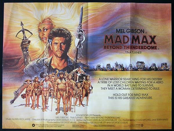 MAD MAX BEYOND THUNDERDOME '86 Mel Gibson Yugoslav British Quad Movie Poster