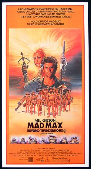 MAD MAX BEYOND THUNDERDOME Daybill Movie poster Mel Gibson