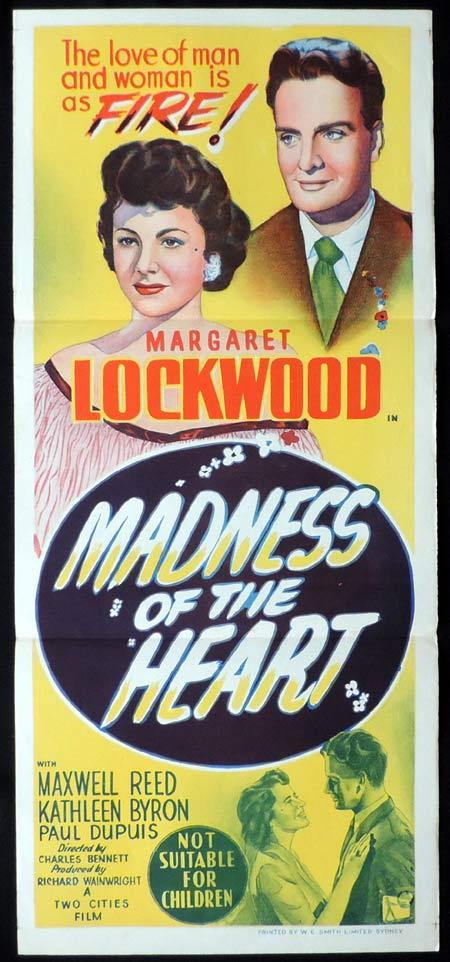 MADNESS OF THE HEART Original Daybill Movie Poster Margaret Lockwood