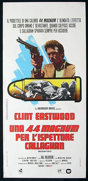 MAGNUM FORCE Original Italian Locandina Movie Poster Ferrini Art Dirty Harry