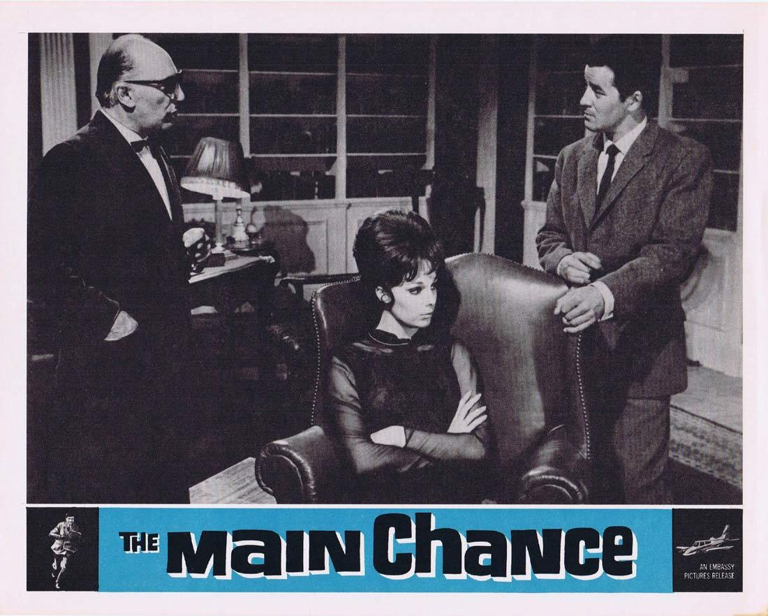 THE MAIN CHANCE Vintage Movie Lobby Card 2 Edgar Wallace Gregoire Aslan Tracy Reed