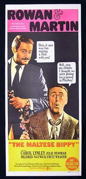 THE MALTESE BIBBY Original Daybill Movie Poster Rowan and Martins Laugh In