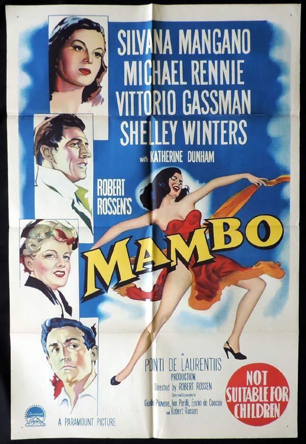 MAMBO One Sheet Movie Poster Silvana Mangano