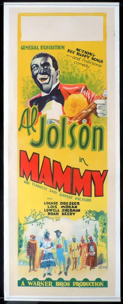 MAMMY Long Daybill Movie poster 1930 Al Jolson All Talking