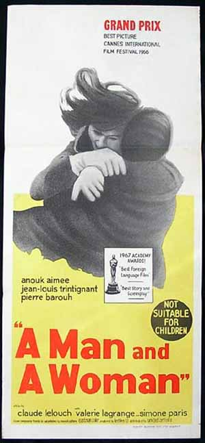 A Man and a Woman, Claude Lelouch, Anouk Aimée Jean-Louis Trintignant