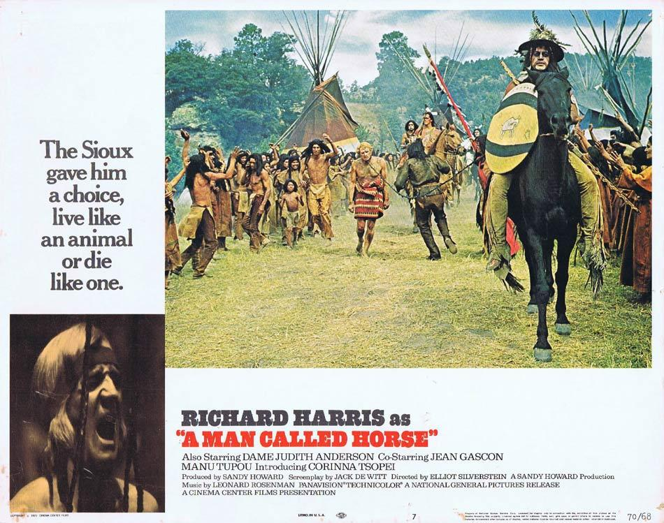 A MAN CALLED HORSE Lobby Card 7 Richard Harris