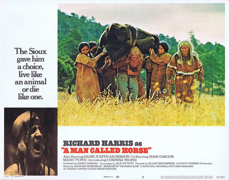 A MAN CALLED HORSE Lobby Card 8 Richard Harris