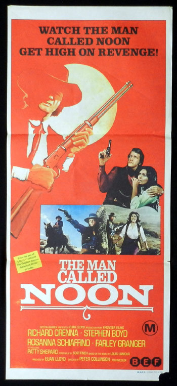 THE MAN CALLED NOON Daybill Movie poster Richard Crenna Stephen Boyd Rosanna Schiaffino