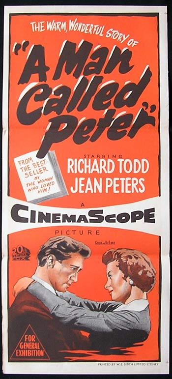 A MAN CALLED PETER '55 Richard Todd Rare Movie poster