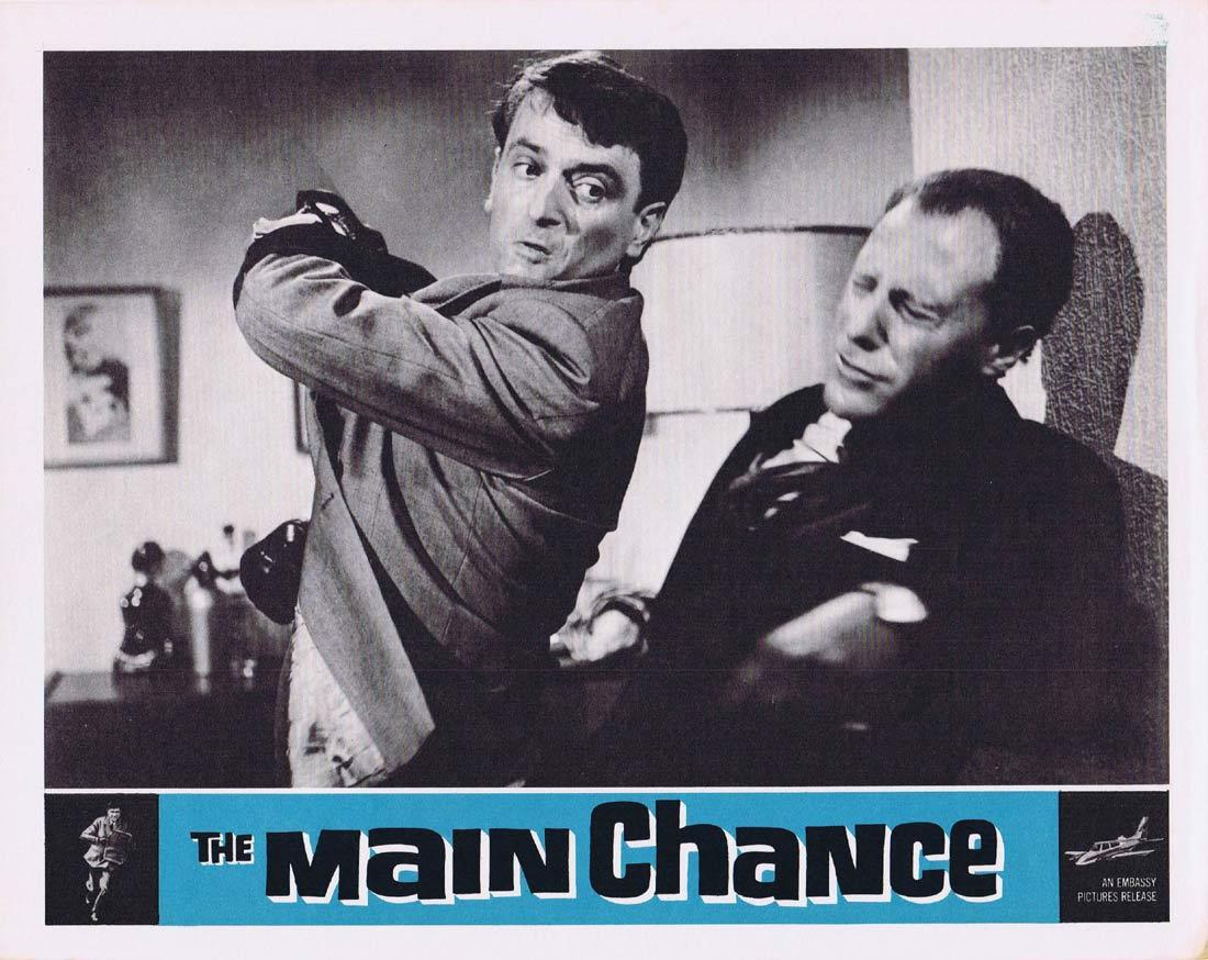 THE MAIN CHANCE Vintage Movie Lobby Card 5 Edgar Wallace Gregoire Aslan Tracy Reed