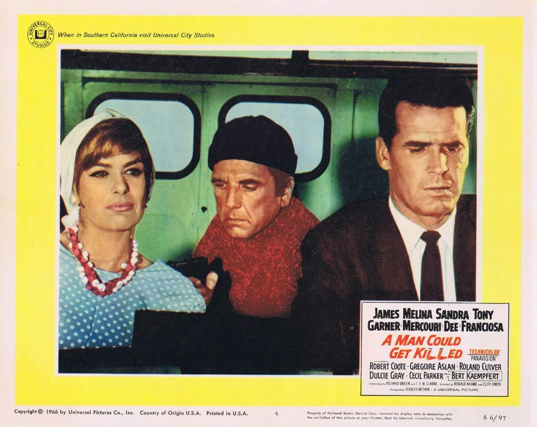 A MAN COULD GET KILLED Lobby Card 4 James Garner Melina Mercouri Sandra Dee