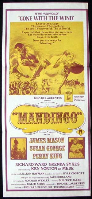 MANDINGO Ken Norton James Mason Daybill Movie poster
